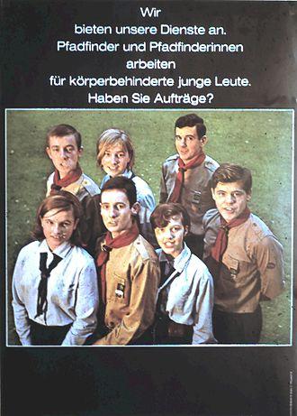 Deutsche Pfadfinderschaft Sankt Georg - Members of the Deutsche Pfadfinderschaft Sankt Georg (boys) and of the Pfadfinderinnenschaft Sankt Georg (girls), 1967.
