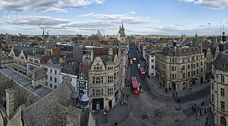 Carfax, Oxford - View from the top of St Martin's Tower