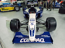 Photo de la Williams FW23 de Ralf Schumacher à l'Auto & Technic museum Sinsheim