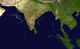 2001 North Indian Ocean cyclone season - Image: 2001 North Indian Ocean cyclone season summary