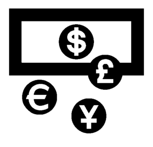 English: Currencies exchange logo Français : L...
