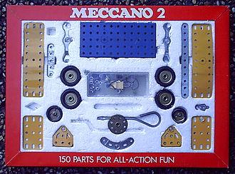 Meccano - 1970s No. 2 Meccano set.