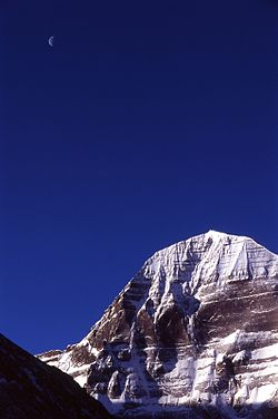 2005 Kailash with moon Tibet.jpg
