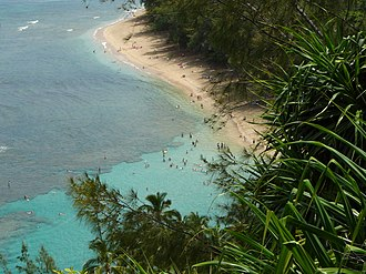 Haʻena State Park - Image: 2006 08 02 Kee Beach from Kalalau Trail