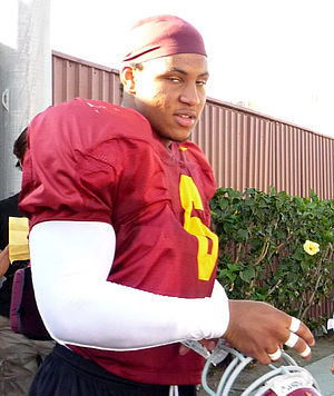 Malcolm Smith (American football) - Smith at USC in 2008