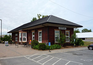 Hopkins, Minnesota - The Hopkins train station, which determined the town's eventual name, is now a student-run coffee house.