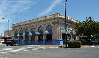 Sanger, California - A former bank building, Sanger.