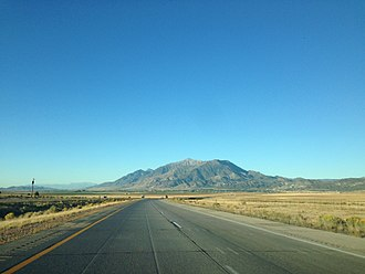 Juab County, Utah - View north along Interstate 15 in the Juab Valley, near milepost 219, September 2013