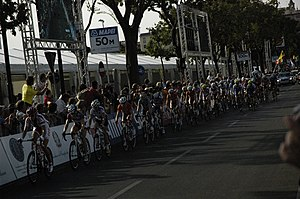 2013 UCI Road World Championships – Women's road race - Peloton during the race