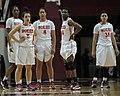 2013 Virginia Tech - Robert Morris - Hokie players look on.jpg