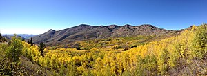 Copper Basin (Nevada) - Autumn in Copper Basin, with the Copper Mountains in the background