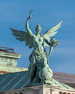Johannes Benk, Sculpture of Fortuna, Neue Burg, Vienna, Austria, Wikipedia Commons