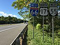 2016-10-03 14 58 49 View west along Interstate 66 and Virginia State Route 55 and north along U.S. Route 17 just west of Exit 27 (Virginia State Route 55 East, Virginia State Secondary Route 647, Marshall) in Marshall, Fauquier County, Virginia.jpg
