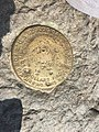 2017-09-11 13 52 16 United States Geological Survey marker on the summit of Mount Mansfield (The Chin) within Mount Mansfield State Forest in Underhill, Chittenden County, Vermont.jpg