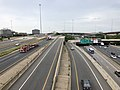 2019-06-24 16 27 52 View south along Interstate 95 (Henry G. Shirley Memorial Highway) from the overpass for the ramp from westbound Virginia State Route 644 (Franconia Road) to southbound Interstate 95 in Springfield, Fairfax County, Virginia.jpg