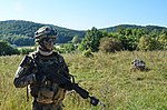 2152841 A German soldier of 6th Company, 31st Parachute Infantry Regiment during exercise Swift Response 15 in 2015.jpg