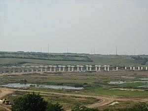 A3 motorway (Romania) - Suplacu de Barcău Viaduct under construction