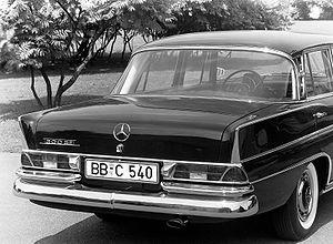 Mercedes-Benz W112 - Image: 300 SE Heckansicht