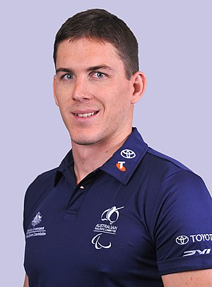 Michael Anderson (swimmer) - 2012 Australian Paralympic Team portrait of Anderson