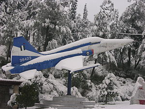38423 a Northrop F-5A preserved half way up a hill on the outskirts of Edessa.jpg