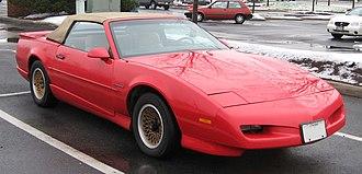 Pontiac Firebird - 1991 Firebird convertible with restyled nose