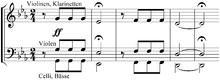 Anfang der 5. Sinfonie (Quelle: Wikimedia)