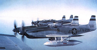 27th Special Operations Wing - F-82Es 46-294 and 46-296 about 1948 with external tanks