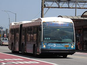 A Q44 bus in Select Bus Service operation at the Jamaica Center Bus Terminal in Queens