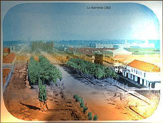 Santiago - La Alameda, Santiago in 1860