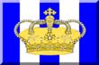600px Corona su sfondo Blu e Bianco a strisce.png