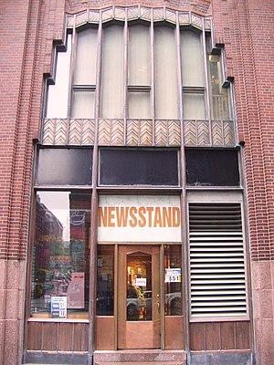 60 Hudson Street - Image: 60 Hudson Street newsstand entrance