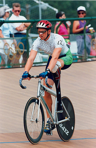 Cycling at the 1996 Summer Paralympics - Silver medalist Paul Lake in the LC1 omnium event
