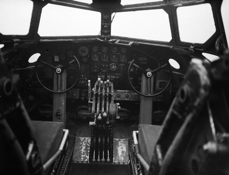 7 Squadron RAF Stirling instrument panel IWM CH 17086
