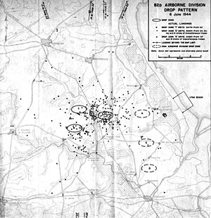 Mission Boston - 82nd Airborne drop pattern, D-Day, 6 June 1944.