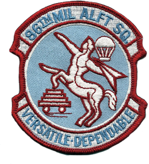 86th Airlift Squadron - Image: 86th Military Airlift Squadron MAC Emblem