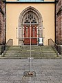 9-armiger Leuchter vor Michaeliskirche Hof 20191220.jpg