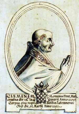 Pope Clement III - Image: A08 CLEMENTE III