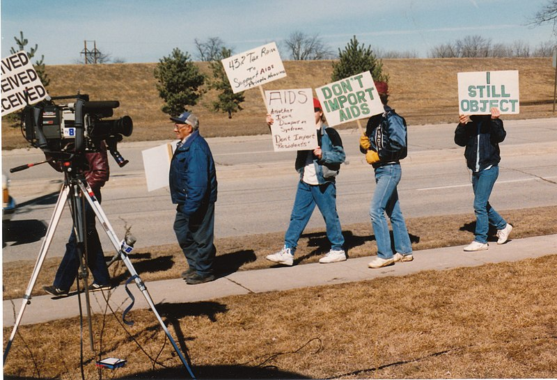 File:AIDS march 2 1990 aids protest Evansdale.jpg