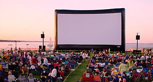 Film festival - Traverse City Film Festival and their giant inflatable movie screen