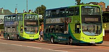ARRIVABUS CROSS RIVER WRIGHTBUS GEMINI 2 DIESEL ELECTRIC HYBRID BUSES AT NEW BRIGHTON WIRRAL AUG 2013 (9429485641).jpg
