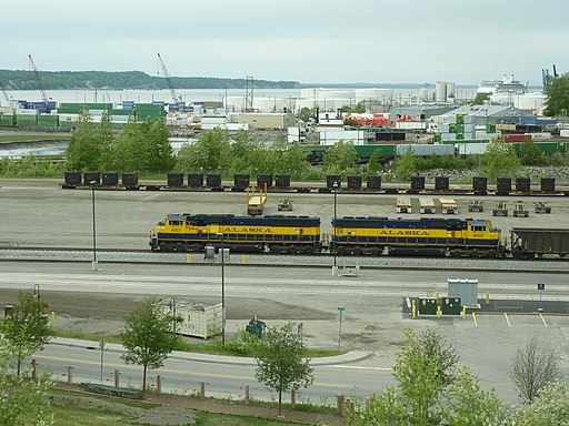 ARR Diesellocomotive at Anchorage station