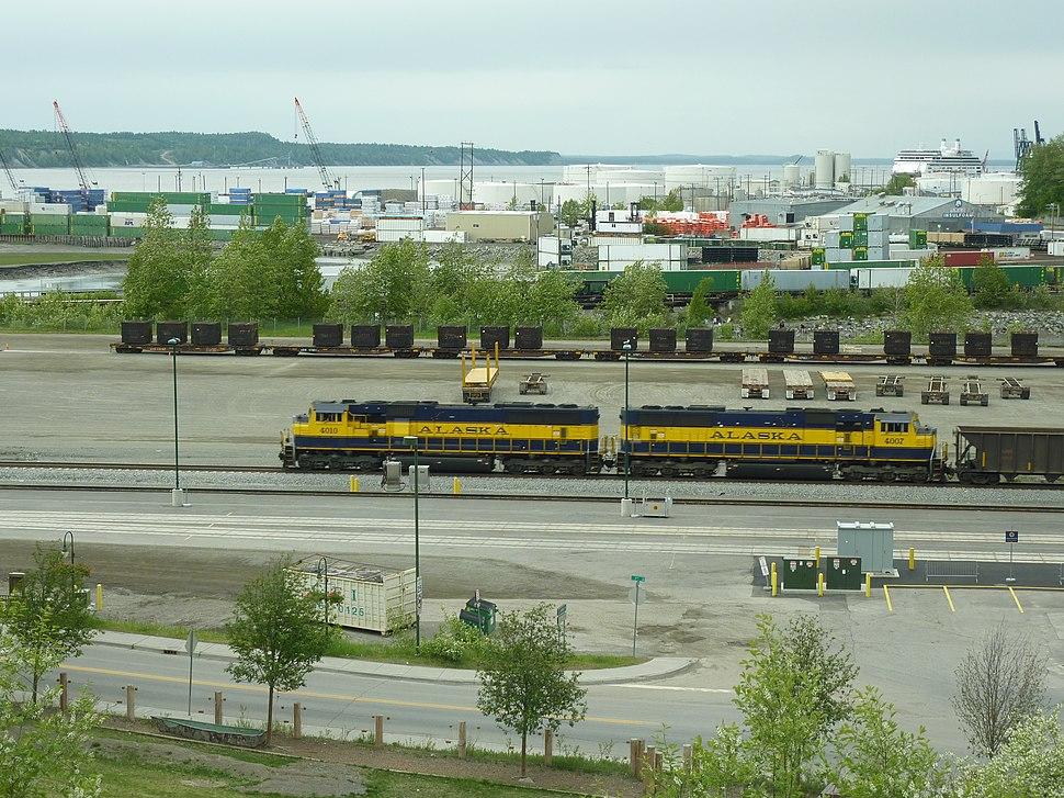 ARR Diesellocomotive at Anchorage station