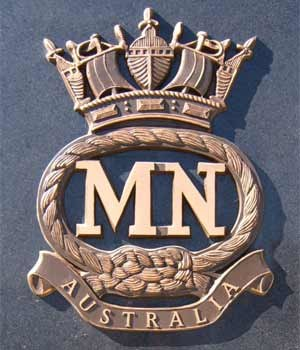 AS Merchant Navy badge