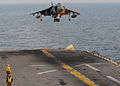 AV-8B Harrier II lands on USS Essex (LHD 2).jpg