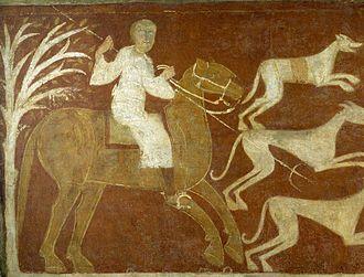 San Baudelio de Berlanga - A Horseman Hunting. Remain inside the hermitage.