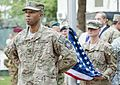 A U.S. Soldier stands at parade rest during the International Security Assistance Force and U.S. Forces-Afghanistan change of command ceremony Aug. 26, 2014, in Kabul, Afghanistan 140826-D-HU462-452.jpg
