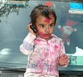 A child celebrating Holi, in New Delhi on March 11, 2009.jpg