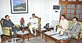A delegation led by the Chief Minister of Sikkim, Shri Pawan Chamling calling on the Minister of State for Home Affairs, Shri Kiren Rijiju, in New Delhi on November 17, 2015.jpg