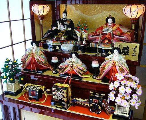 A doll displayed at the Girls' Festival,hina-ningyo,katori-city,japan