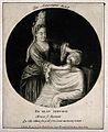 A female barber shaving a man. Mezzotint by I. Gale (?) Wellcome V0019726ER.jpg